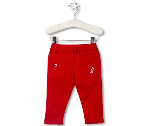 Red Suede Trousers, Trousers - Little Pancakes