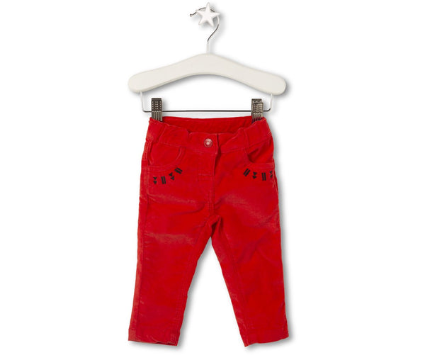 Red Velvet Trousers, Trousers - Little Pancakes