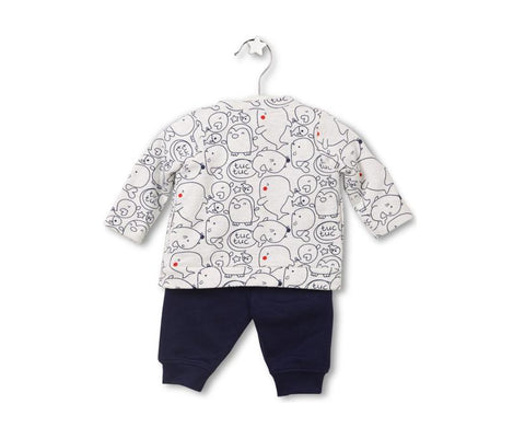 Sea Adventure Three-Piece Set for Baby Boys, Sets - Little Pancakes