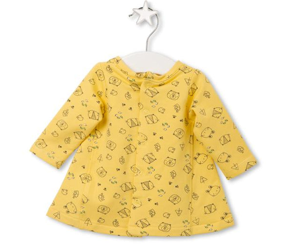 Yellow Butterfly Bush Dress, Dresses - Little Pancakes