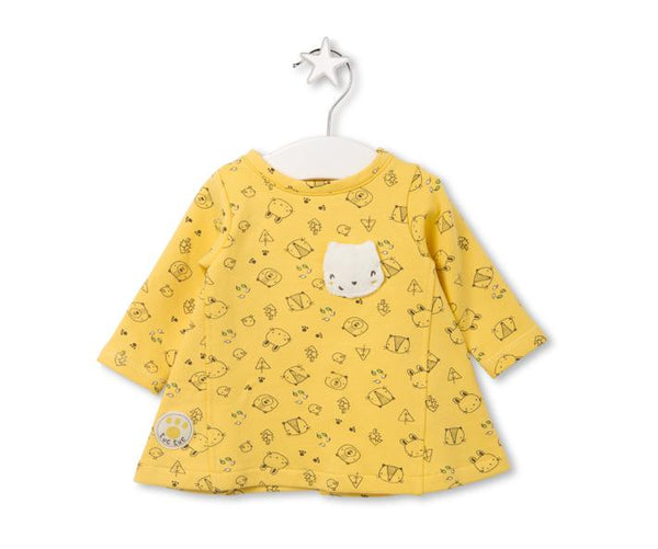 Cute dress with animal face patch on the chest
