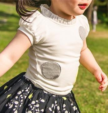 Neck Frill Short Sleeve T-Shirt, T-Shirts - Little Pancakes