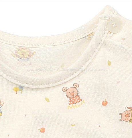 Animal Friends Short Sleeve Bodysuit, Bodysuits - Little Pancakes