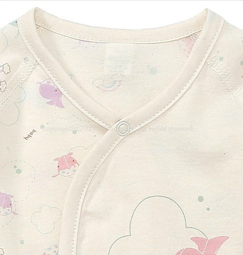 Dreaming Whales Long Sleeve Baby Bodysuit, Bodysuits - Little Pancakes