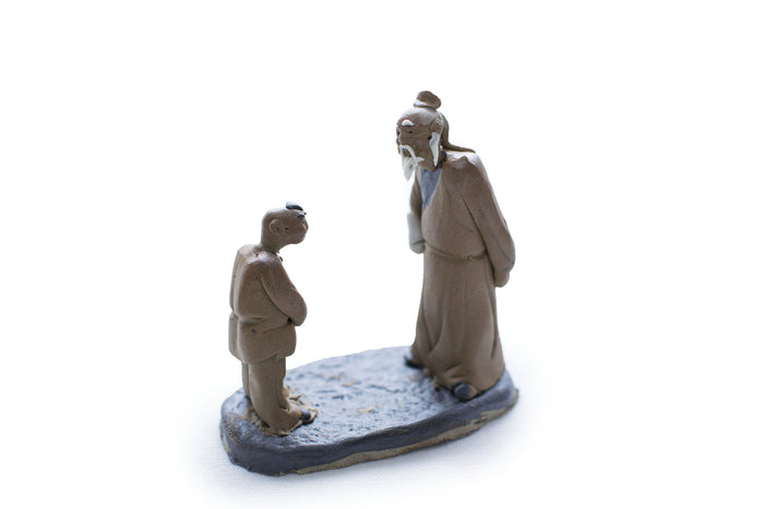 Two Men, Scholar and Disciple, Unglazed