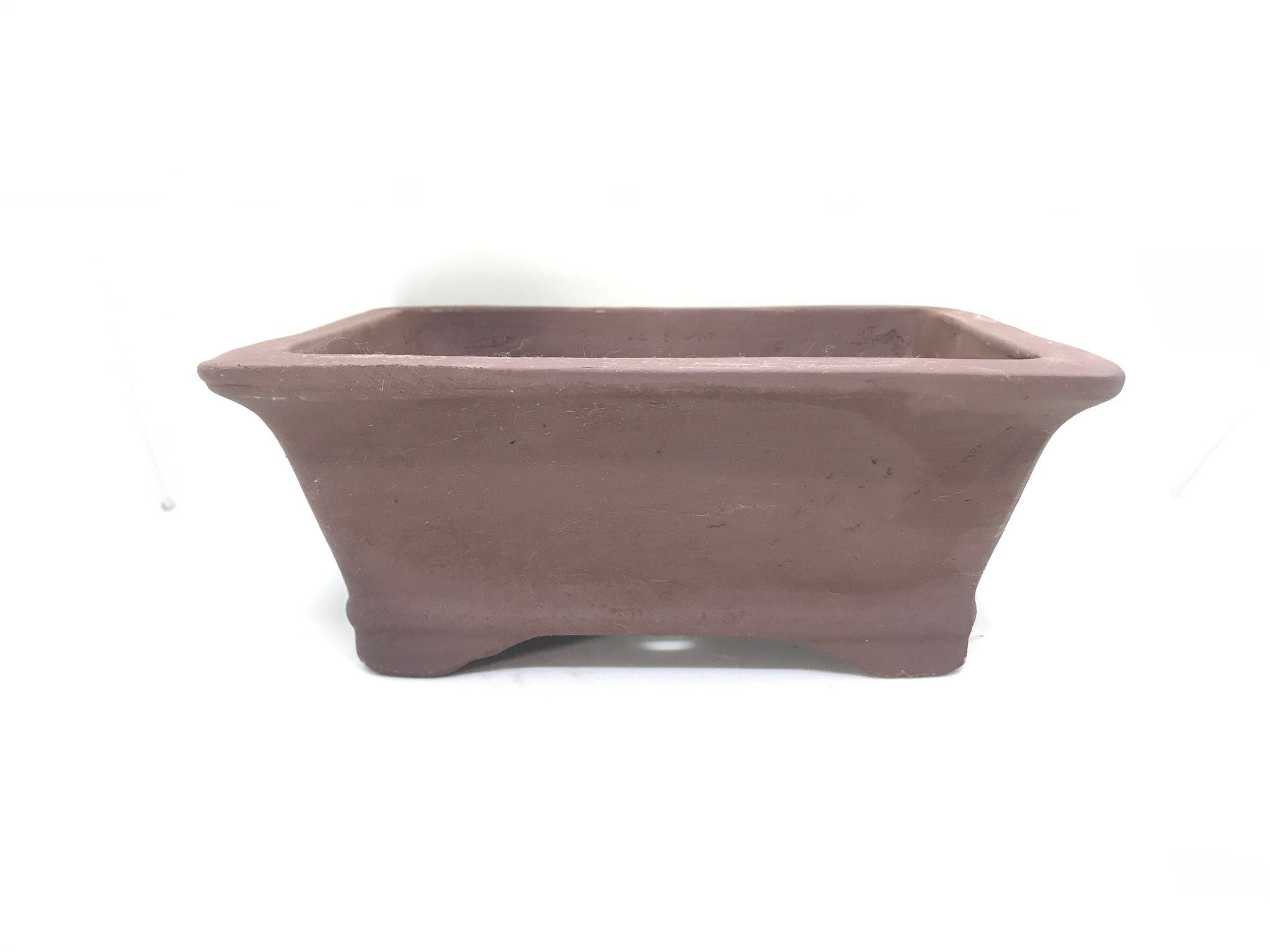 "6"", 8"", 10"" Unglazed Ceramic Bonsai Pot (Earth Brown)"