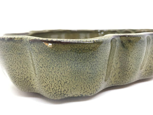 "9"" Glazed Bonsai Land/ Water Bonsai Pot (Forest Green)"