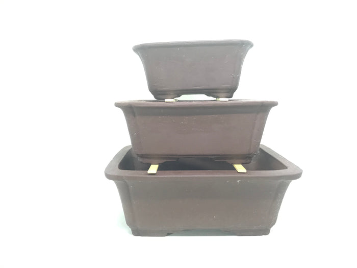 "6"", 8"", 10"".12""  Unglazed Ceramic Bonsai Pot (Earth Brown)"