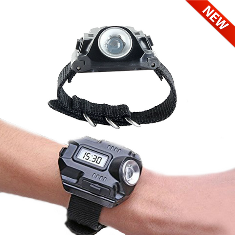 Tactical Rechargeable Flashlight Watch