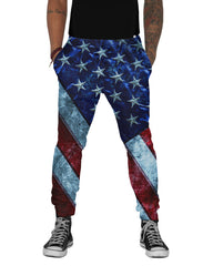 America the Great Distressed Flag Joggers
