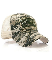 Multicam US Flag Patch Tactical Mesh Trucker Hat