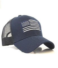 Navy US Flag Patch Tactical Mesh Trucker Ha