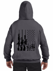 American Flag With Machine Guns Hoodie