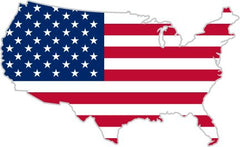 American map flag sticker decal