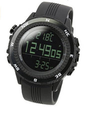 Men's Digital Quartz Black German Sensor Sport Watch