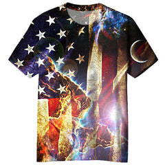 Galaxy American Flag T-shirt