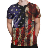 Cracked Earth American Flag Tee