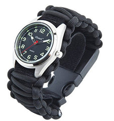 [Premium Adjustable] 8-in-1 Water Resistant Survival Tactical Emergency Watch