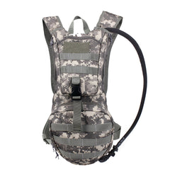 Camo Hydration Pack Backpacks with 2.5L Bladder