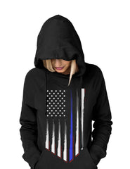Thin Blue Line Police Support Women's Hoodie