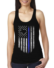 Texas Thin Blue Line Support Women's Tank