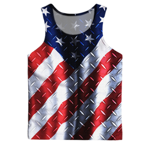 Metallic American Flag Tank