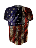 Cracked Earth American Flag Jersey