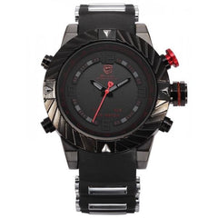 Black and Red Shark Sports Watch