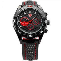 Black and Red Honeycomb Shark Watch