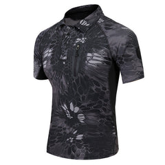Tactical Waterproof Camouflage Camo Polo Shirt