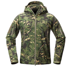 Luger Tactical Shark Skin Green CPU V5 Soft Shell Camouflage Jacket