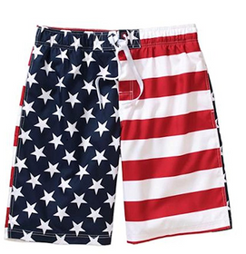 Patriotic American Flag Swim Trunks