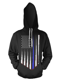 Thin Blue Line Police Support Hoodie