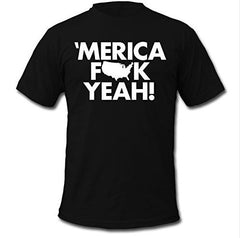"Men's ""Merica Fk Yeah"" Print Cotton Short Sleeve T Shirt"