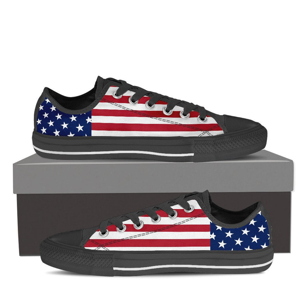 4th of July Low-Top Shoes