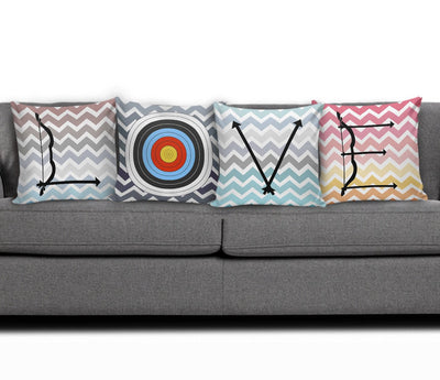 LOVE Archery Pillow Cover