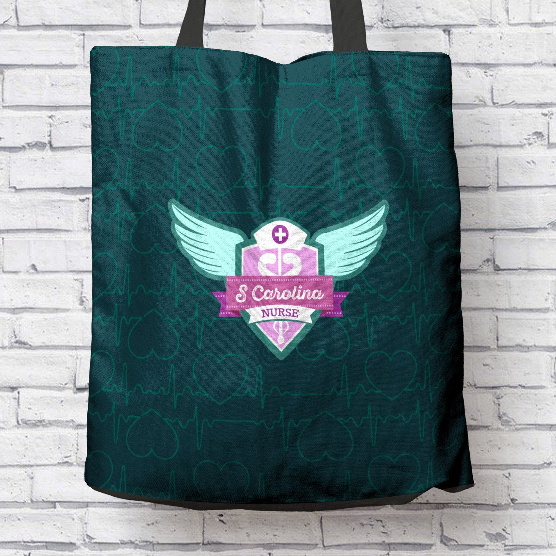 SC Nurse Green Tote Bag