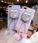 Owl Pom Pom Pendant Iphone Cell Case