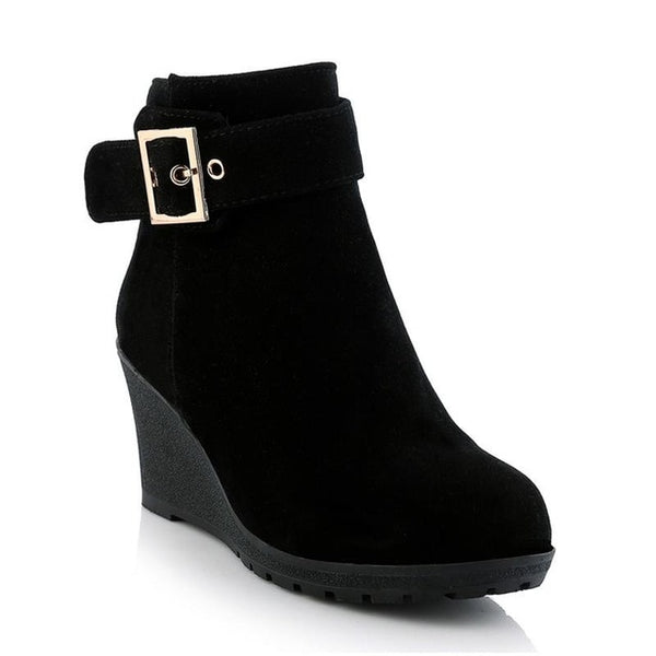 Womens High heel wedge ankle boots