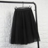 Klia Pleated Tulle Skirt / Black