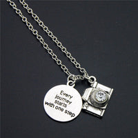 Travel Camera Quote Pendant Necklace