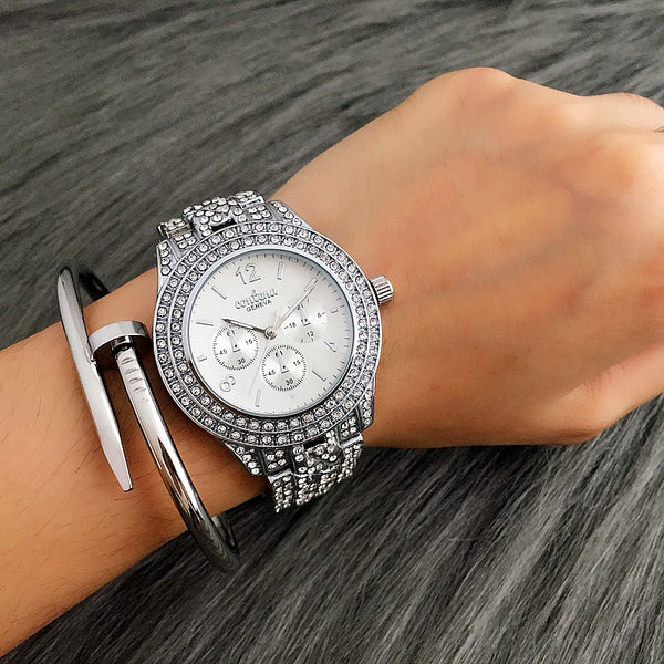Rhinestone Ladies Watch / Silver