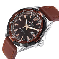 Men's Suit Watches / Brown Silver