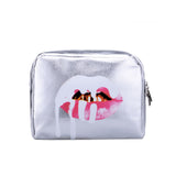 Silver Lip Travel Cosmetic Bag