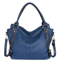 Slouch Vintage Leather Bag / Blue