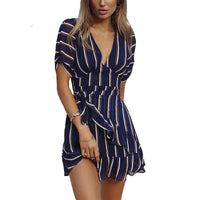 Riley V Neck Striped Dress