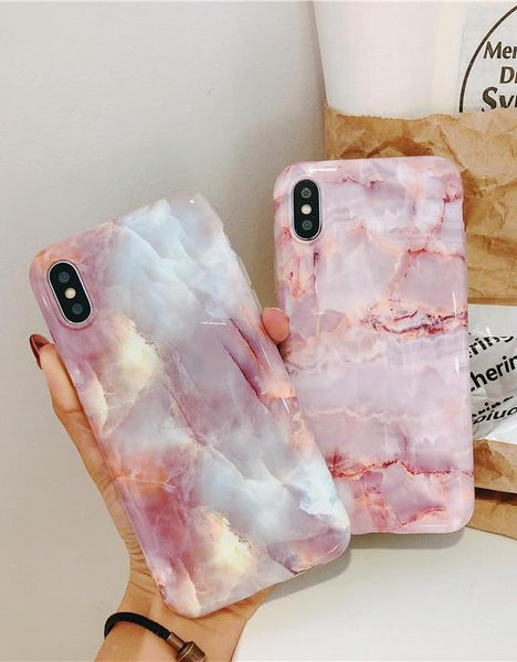 Pink Marble iPhone Protective Cases