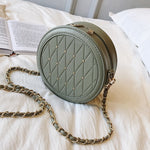 Round Lattice Shoulder Bags