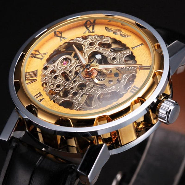 Skeleton Mechanical Sport Army Watch