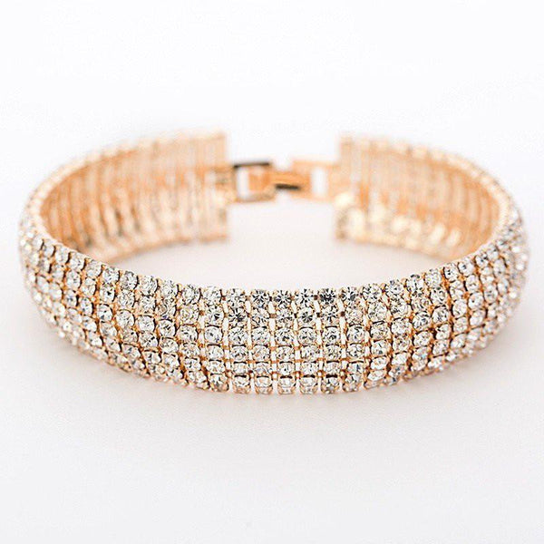 Full Rhinestone Classic Crystal Pave Link Bracelet